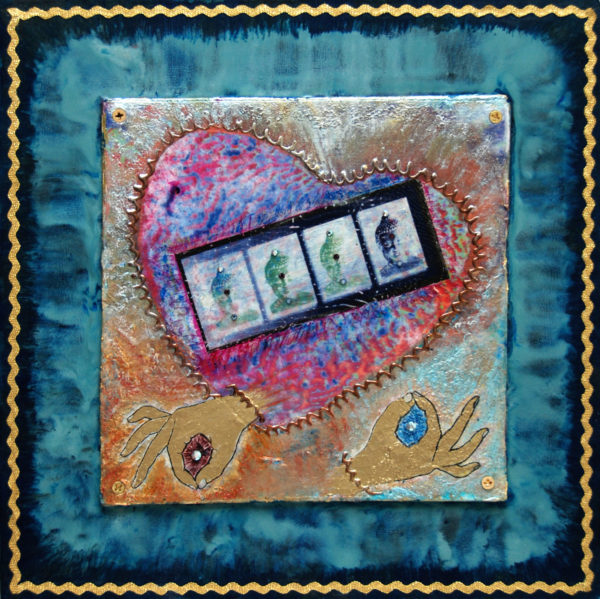 Heart Passages: 3 Meditative-Heart, art under $333 at DebbieMathewArt.com