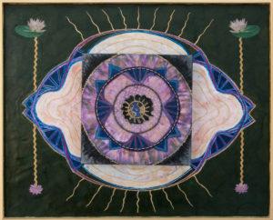 Mixed Media and Encaustic - Harmonic Eye - at DebbieMathewArt.com