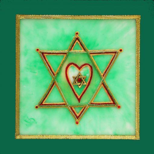 Ancient Heart Star, art under $333 at DebbieMathewArt.com