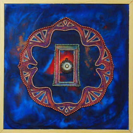Door Beyond Time, art under $333 at DebbieMathewArt.com