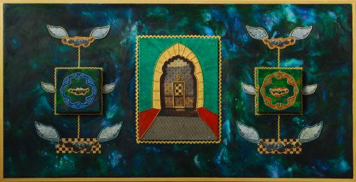 Door of Infinity, is an invitation to contemplate reality beyond the mundane at DebbieMathewArt.com