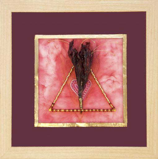 Fiery Heart, art under $333 at DebbieMathewArt.com