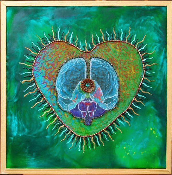 Heart Intelligence, art under$333 at DebbieMathewArt.com