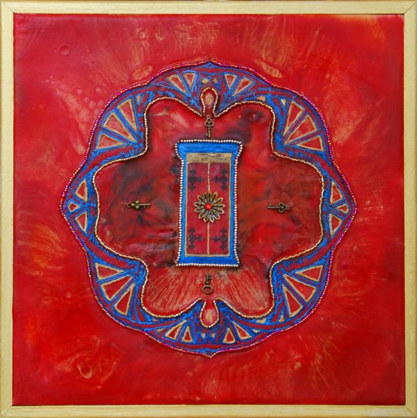 Red Door of Passion, art under $333 at DebbieMathewArt.com